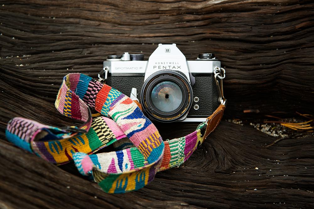 pentax camera vintage retro strap colourful